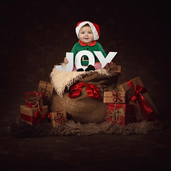 babyfotografie kerstmis