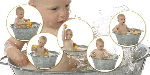 fotocollage kinderfotografie