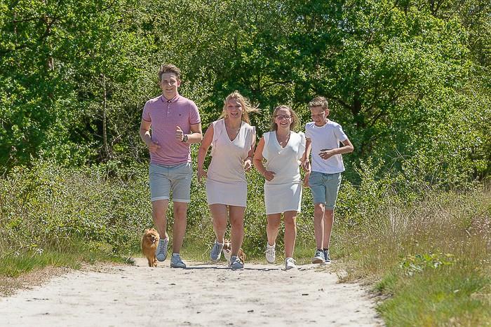 gezinsfoto op locatie