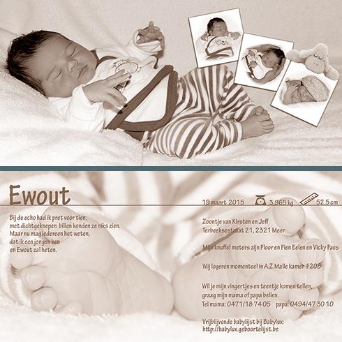 geboortekaartje ontwerpen