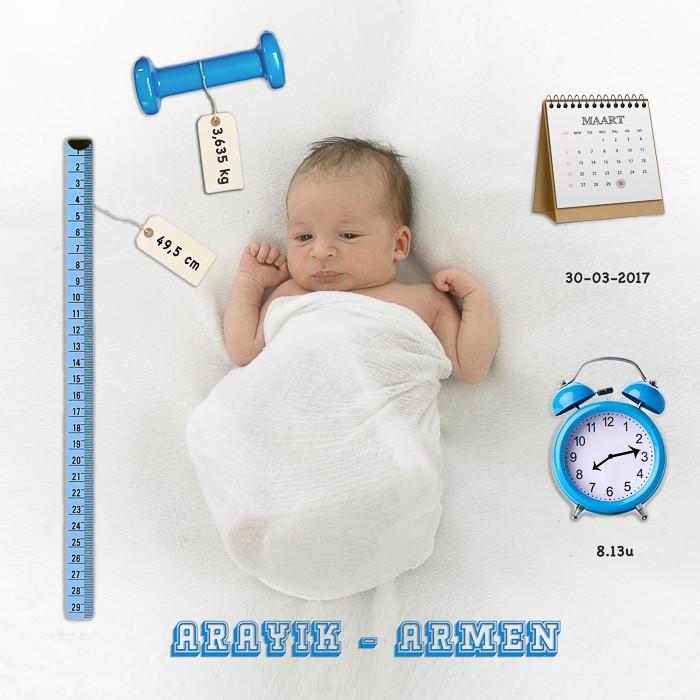 voorbeelden geboortekaartjes