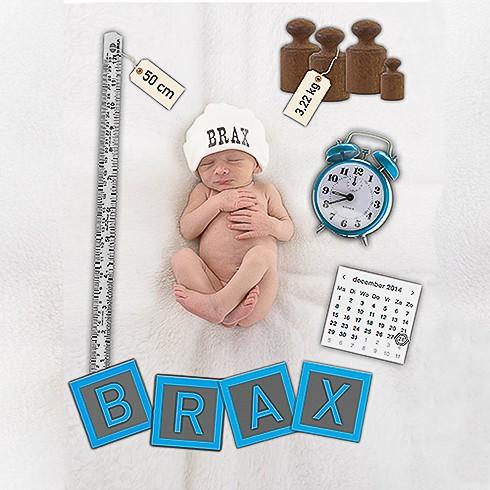 geboortekaartje met babyfoto