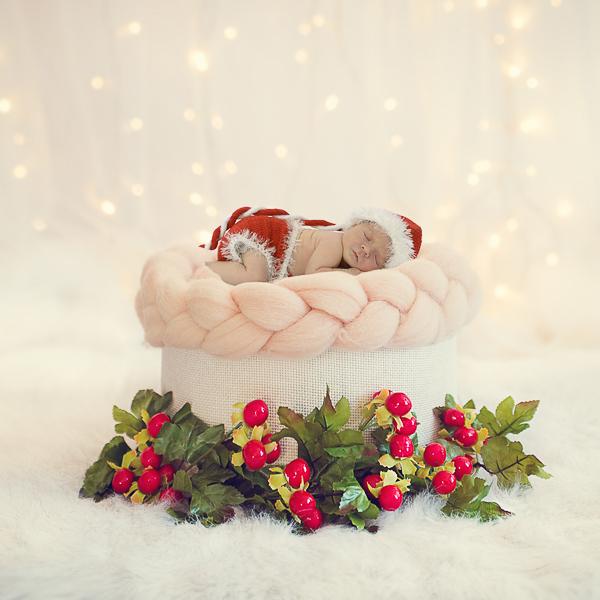 babyfotografie kerstmis, fotoshoot kerst