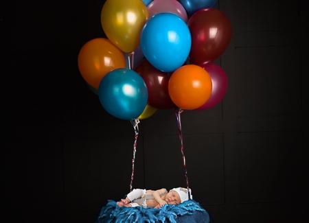 babyfotografie jongen, geboortekaartje