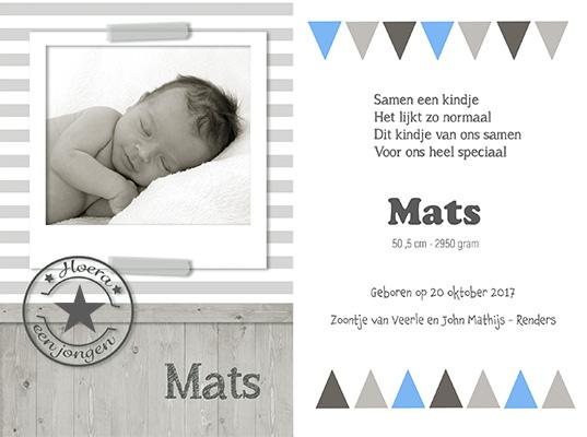 Geboortekaartje eerste kindje