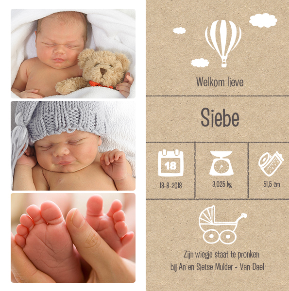 geboortekaarten met foto