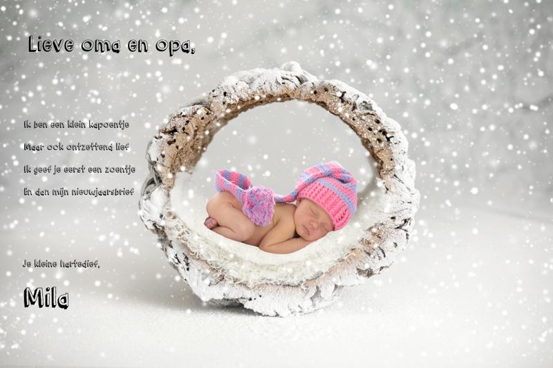 nieuwjaarsbrief met foto