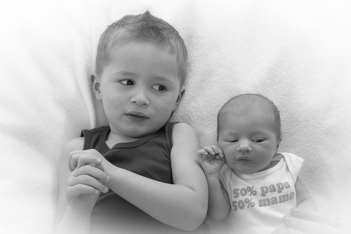 babyfotografie met broer
