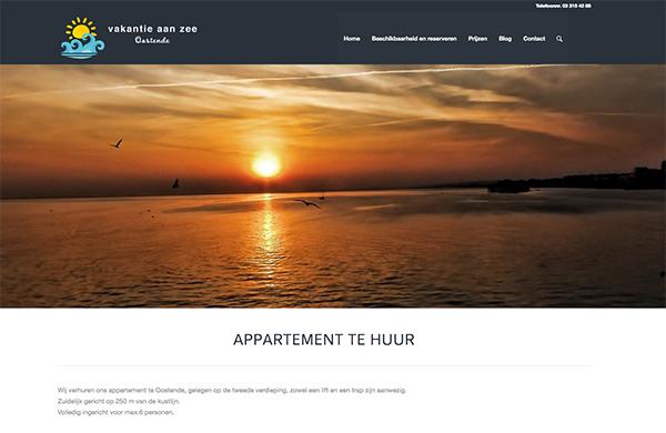 website maken appartement aan zee vakantieverhuur