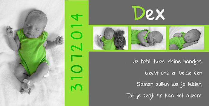 geboortekaartjes met babyfoto