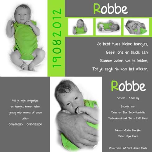 geboortekaartjes met foto baby