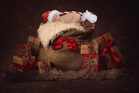 newbornfotografie kerstmis