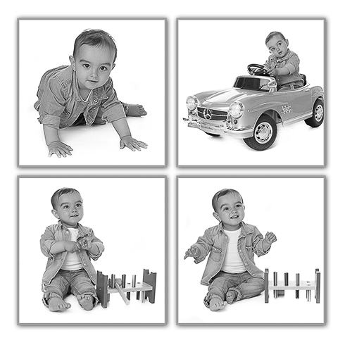 fotocollage kinderfoto's