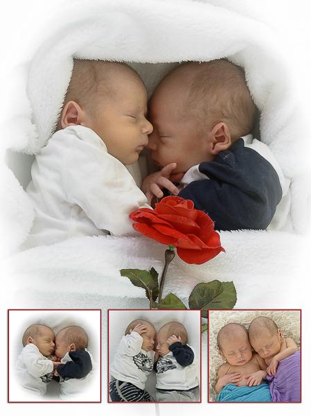 babyfotografie pasgeboren tweeling