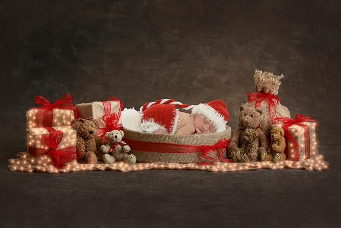 newborn fotografie kerstmis