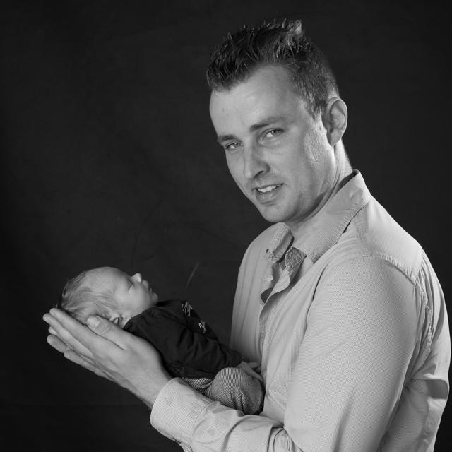 babyfoto met papa